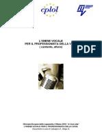 Igiene Vocale Per Il Professionista Della Voce