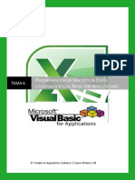 TEMA 6 Programacion de Macros de Excel Utilizando VBA