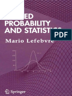 Applied Probability Statistics by Mario Lefebure