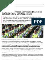 21-9 Noticias en EL PORTEÑO _ Llegando a 10 meses, Larreta unificará a las policías Federal y Metropolitana _ Urgente24.pdf