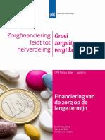 CPB Policy Brief 2016 10 Financiering Van de Zorg Op de Lange Termijn