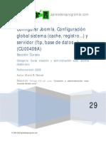 Configuracion Global Joomla Sistema Cache Registro Servidor