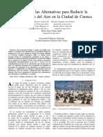 Método AHP, para reducir la contaminación del aire en la ciudad de Cuenca