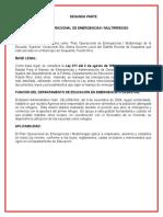 Plan Mutirriesgo de la Escuela Superior Vocacional Dra. María Socorro Lacot