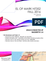 Jesus is Rejected Gospel of Mark 6.1_29 NT352 Fall 2016