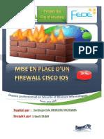 Rapport PFElicence mise en place d'un firewall cisco ios
