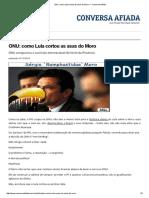 ONU_ Como Lula Cortou as Asas Do Moro — Conversa Afiada
