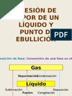Presion de Vapor de Un Liquido y Punto de Ebullicion