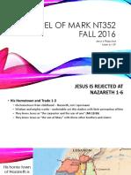The Power of Son of God Gospel of Mark 6.30_56 NT352 Fall 2016