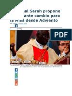 Cardenal Sarah Propone Importante Cambio Para La Misa Desde Adviento