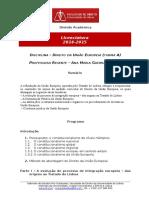 Programa Direito Da União Europeia - Turma a - 2014-2015 2.º Sem