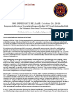 Newtown Fire Association Statement