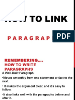 How to Link Paragraphs