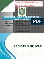 Registro de ivap y Registro de inventarios