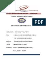 Obligaciones Rendición Cuentas Autoridades Responsables Contabilidad SUA IVCICLO 2016