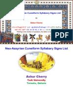 Neo-Assyrian Cuneiform Syllabary Signs List [English] - Ashur Cherry