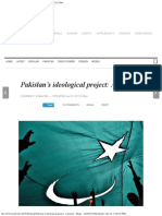 Pakistan's Ideological Project a History -- DAWN.com