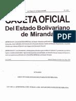 Ley de Administracion Publica Del Estado Miranda