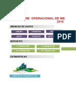 informe operacional
