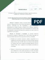 Proyecto de ley creación de Comsión Bicameral de Auditoría de la Obra Pública
