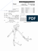 """U.S Patent 6,412,742, entitled """"Guitar Stand"""", issued 2002."""