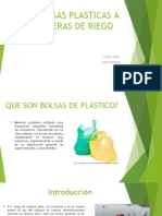 Bolsas Plasticas a Mangeras de Riego