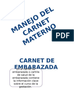 Manejo Del Carnet Materno Diaposita Exponer