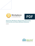 Improving Workforce Productivity with Online Community and Social Software Solutions