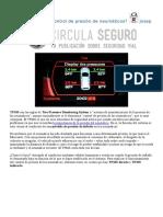 Qué Es El TPMS o Control de Presión de Neumáticos