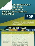 TALLER DE PLANIFICACIÓN Y EVALUACIÓN DE LOS APRENDIZAJES EN CIENCIAS NATURALES.pdf
