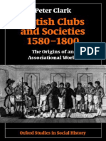Peter Clark - British Clubs and Societies
