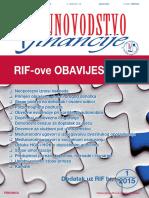 RIFove obavijesti 2015