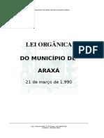 Lei Organica de Araxá