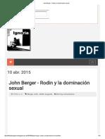John Berger - Rodin y La Dominación Sexual