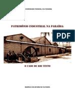 PATRIMÔNIO INDUSTRIAL NA PARAÍBA