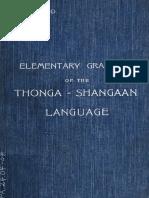 Elementary Grammar of the Tsonga - Shangaan
