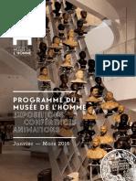 Programme Trimestiel Janv Mars 2016 Museedelhomme