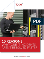10 Reasons IT Incidents Not Resolved