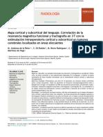 PAPER - [Jiménez de La Peña M., 2011 ESP] Mapa Cortical y Subcortical Del Lenguaje. Correlación de La FMRI y Tractografía en 3T Con Estimulación...