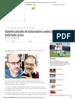 Valiente Posición de Historiadores Contra La Hija de Exdictador Preso - Diario UNO