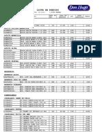 Lista de Precios Actual PDF