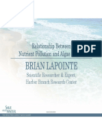 Brian LaPointe - Relationship Between Nutrient Pollution and Algae Blooms