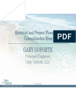 Gary Goforth - Historical and present flows in the Caloosahatchee River