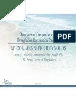 Lt. Col. Jennifer Reynolds - Overview of Comprehensive Everglades Restoration Projects