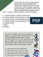 Antigens, Antigen Capture, MHC Molecules Questions