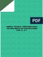 Normas Tecnicas Complementarias Reglamento Construccion Df