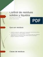 Control de Residuos Solidos y l Quidos