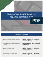 Renta Empresarial Tercera Categoria Dj 2013