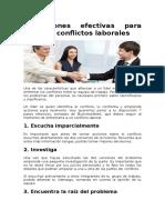 7 Acciones Efectivas Para Resolver Conflictos Laborales