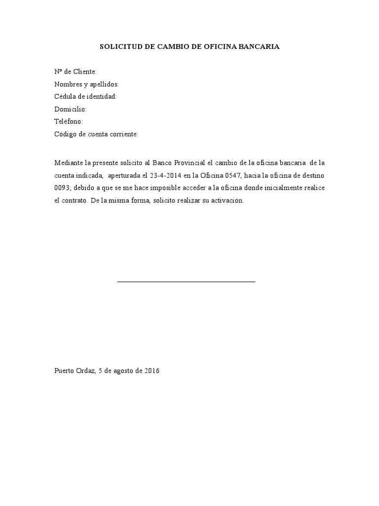 Solicitud de Cambio de Oficina Bancaria-1